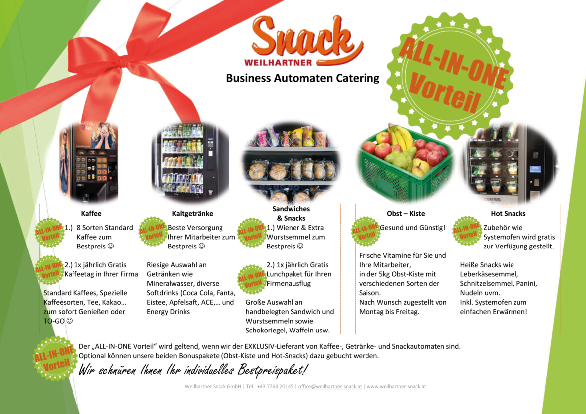 All-in-One Automaten Catering